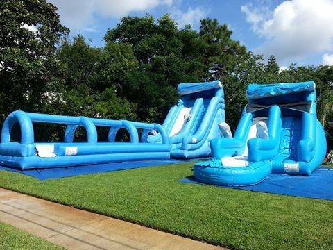 Ultimate Wave Huge Inflatable Water Slides Childrens Kidwise Water Slide Bounce House