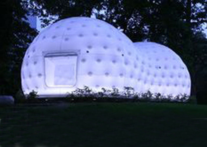China Ultra Light Dome Inflatable Tent , Inflatable Tea House Tent With Led Light factory