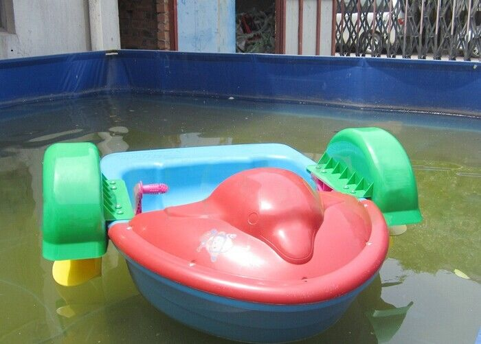 Mini Inflatable Water Toys One Person Paddle Boat Dolphin Swimming Pool