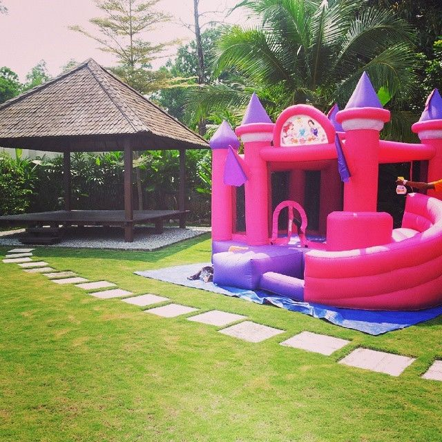 Pink Princess Inflatable Bouncy Castle , inflatable jumping castles For Girl's Party