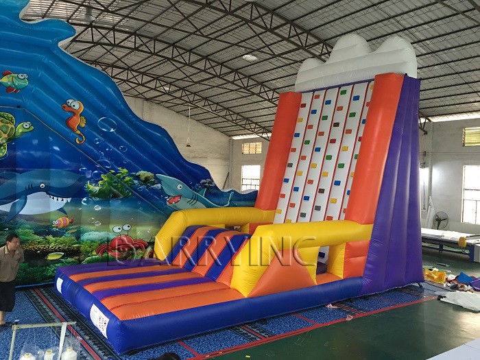 Inflatable Interactive Games Portable Mobile Rock Climbing Wall For Amusement Park supplier