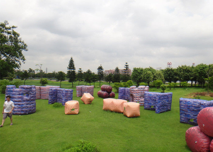 Outdoor Inflatable Paintball Area For Inflatable Paintball Game With PVC Material supplier
