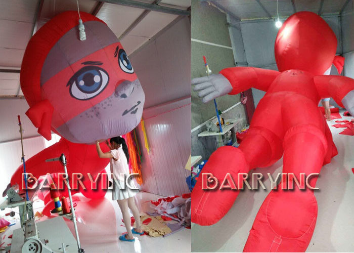 China CE Certificated Outdoor Giant Advertising Inflatables Red Inflatable Hero Cartoon factory