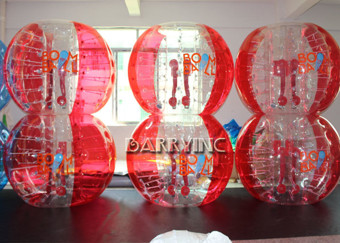 China Outdoor Inflatable Kids Toys 1.8M TPU Material Half Blue Bubble Ball / Red Bubble Balls factory