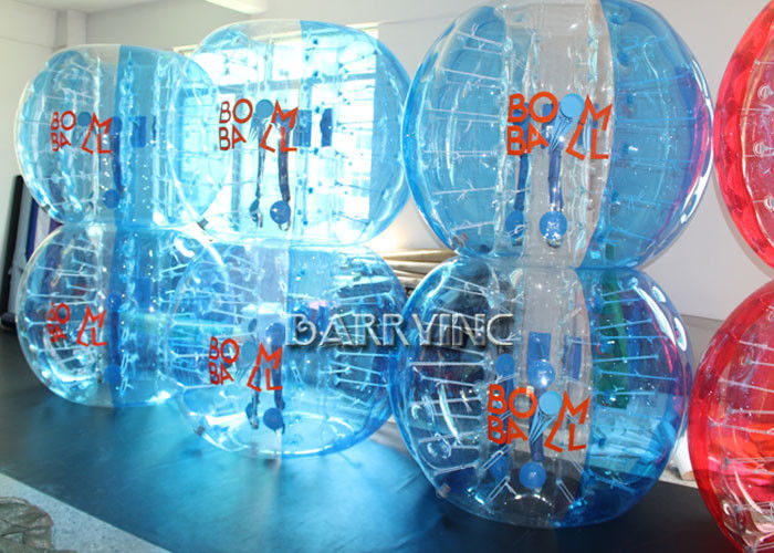 China Durable Transparent Inflatable Bubble Soccer 1.5 Meters 100% TPU 1mm Thickness factory