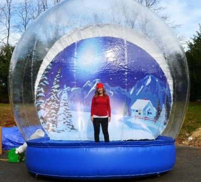 China Outdoor Transparent Beautiful Giant Advertising Inflatables Snow Globe CE Approval factory