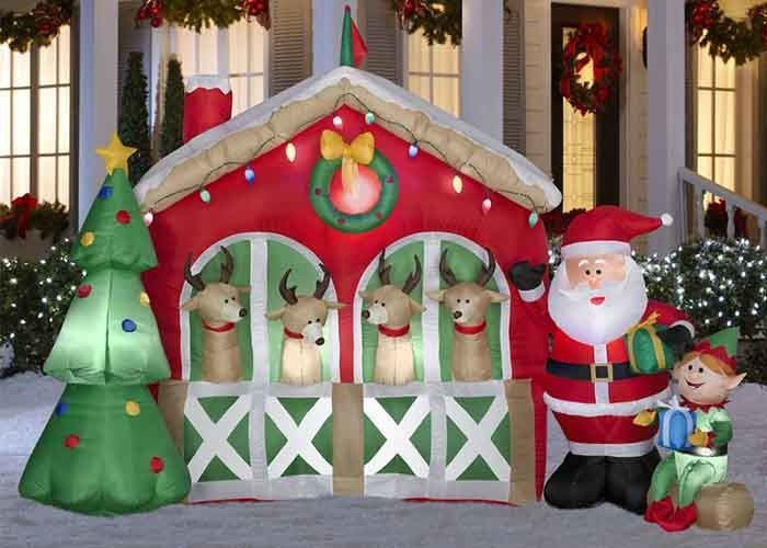 China Giant Custom Advertising Inflatables Waterproof Oxford Cloth Christmas House factory