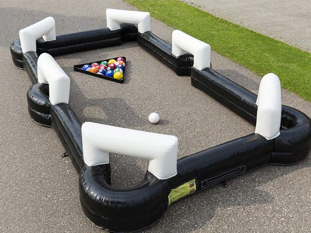 China Tdoor Sport Game Giant Snooker Football Inflatable Sports Arena Human Billiards factory