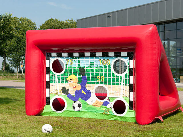 China Outdoor Inflatable Sports Games Portable Kids Inflatable Football Soccer Goal factory
