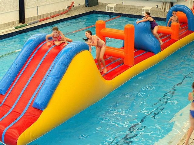 0.9mm PVC Inflatable Aqua Park Inflatable Water Obstacle Course For Kids