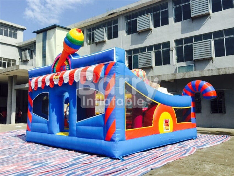 6 * 5.7 * 4.3m Inflatable Bouncy Castle Children Amusement With Sport Elements