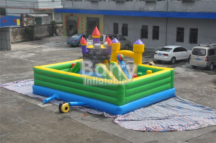 Inflatable Fun City Castle Themed Amusement Park Inflatable Playground Equipment