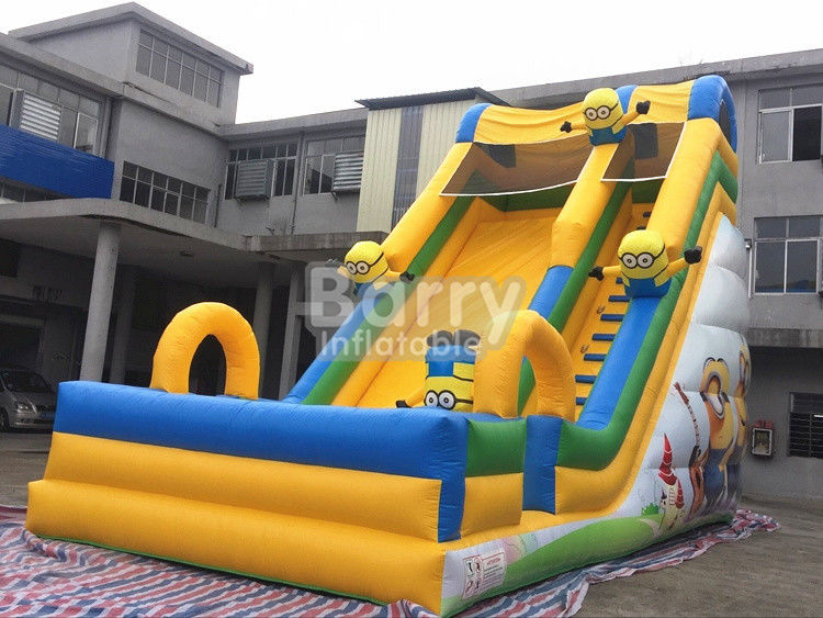 China Commercial Inflatable Bounce Slide Outdoor Small Minions Inflatable Slide For Kids factory
