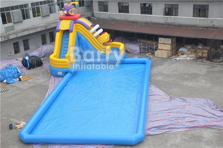 China CE Certificate Inflatable Water Park , Inflatable Pool With Piranha Slide factory