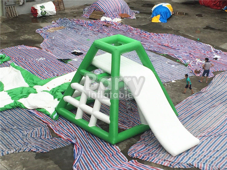 China 4.8m High Inflatable Water Toys Inflatable Water Jumping Tower With Water Slide factory