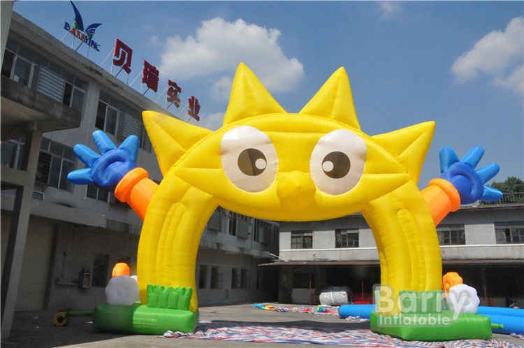 China Cartoon Shape Yellow Inflatable Arches For Advertising / Inflatable Entrance Arch For Event factory