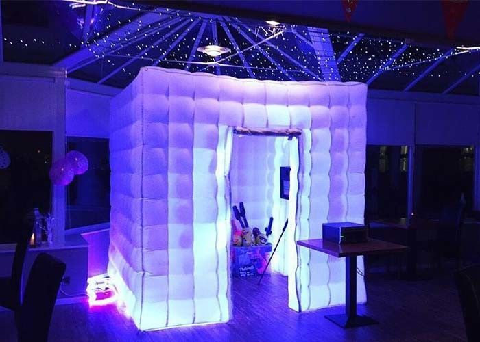 China Romantic Inflatable Photo Booth LED Light 2.4m Color Changed With Blower factory