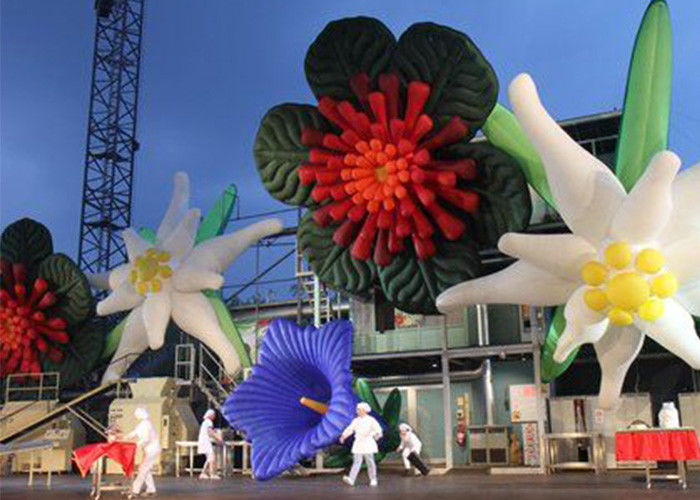8m Decorative Inflatable Flowers For Wedding Decorations with PVC Tarpaulin Material supplier
