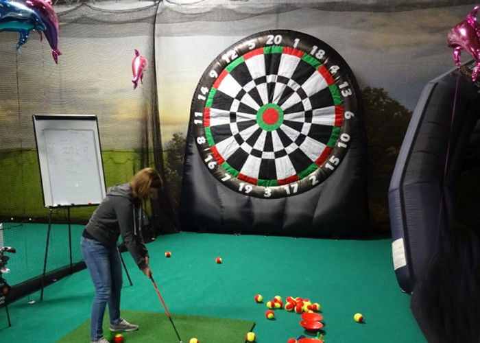 Kids And Adults Giant Inflatable Golf Dart Boards With  Balls For Parks , Squares , Gardens supplier