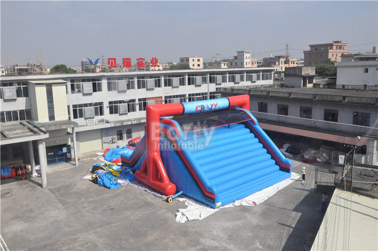 China OEM Customized Lets Go Starting Line Insane Red Inflatable 5K Obstacle Course Games factory