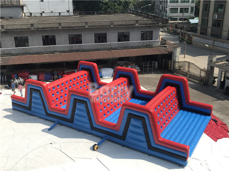 China Event Red Giant Outdoor Inflatable 5K Obstacle Course Climbing Run , Inflatable 5K Obstacle factory