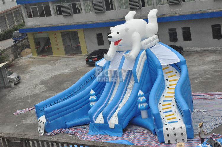 China Giant Beautiful New Bear Swimming Pool Slide , Inflatable Pool Slide For Amusement Park factory