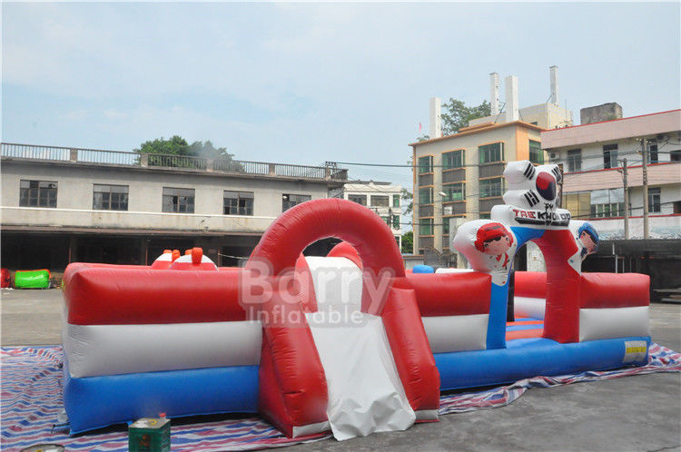 Custom Inflatable Toddler Playground , Special Inflatable Fun City Boxing Bull Theme