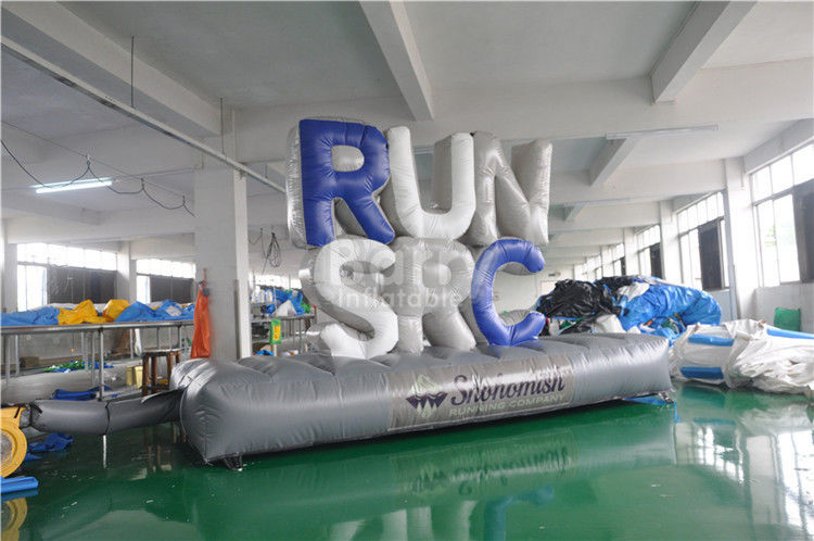 Customized Advertising Giant Inflatable Letters With Bottom Mat 5x1.5m