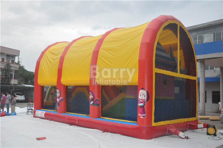 Indoor / Outdoor Kids Inflatable Playground Equipment With Cover