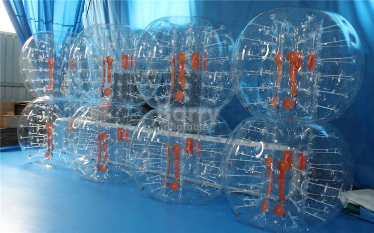 PVC / TPU Outdoor Inflatable Toys / Bubble Ball Soccer Suit for Party or Event