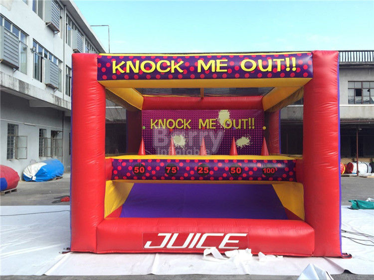 China Amusement Park Kids Inflatable Interactive Games Knock Me Off And Out factory
