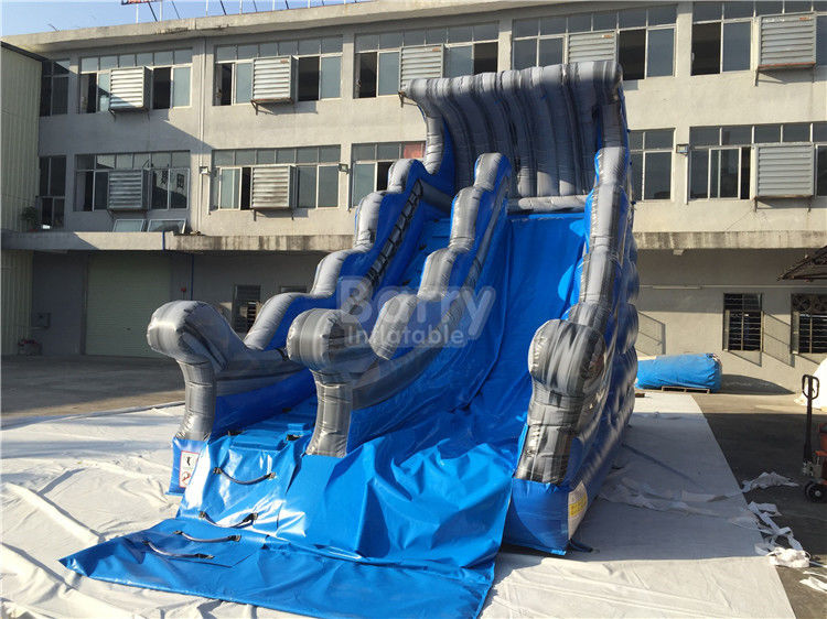 Commercial Grade Wave Inflatable Dry Slide 7.6x3.8m Customized