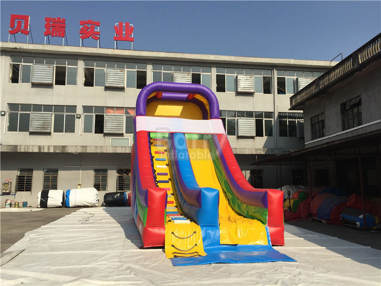 China Rainbow Commercail Inflatable Slide For Kids With Full Printing factory