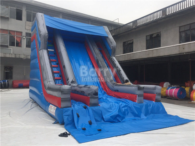 China Small Single Lane Commercial Inflatable Slide On Land For Outdoor 7*5m factory
