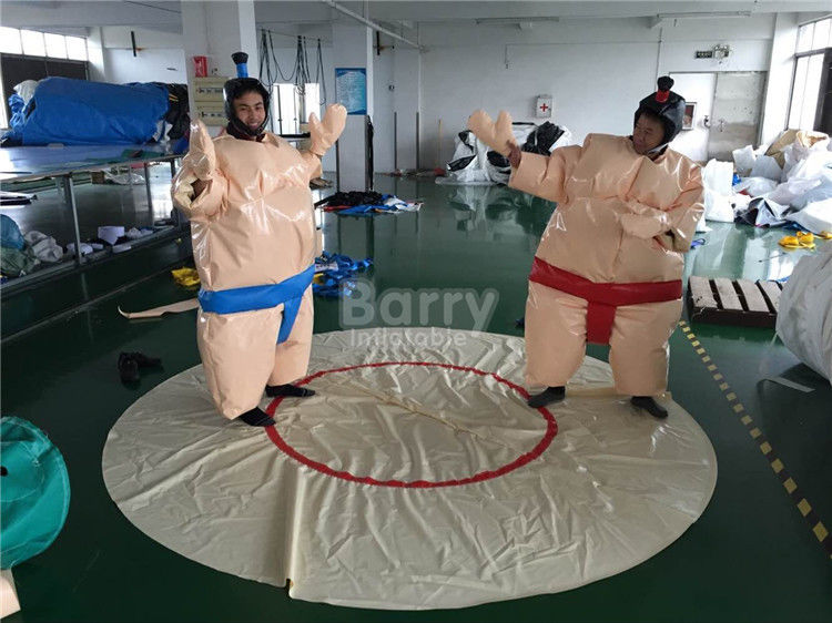 China Adult Inflatable Sumo Wrestling Suits With Mat For Outdoor Event factory