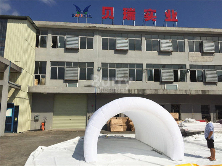 White Air Tight Inflatable Event Tent  Diy Inflatable Tunnel Tent With LED & White Air Tight Inflatable Event Tent  Diy Inflatable Tunnel Tent ...
