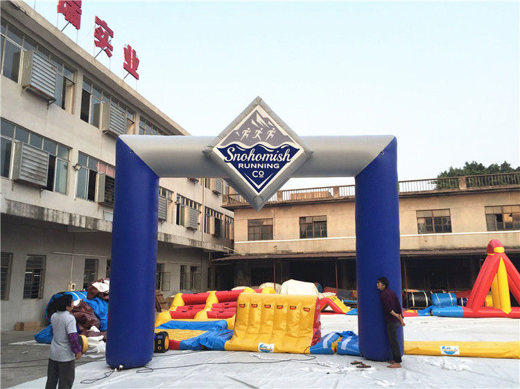 Custom Inflatable Advertising Products Start Finish Arch / Inflatable Entrance Arch Supports