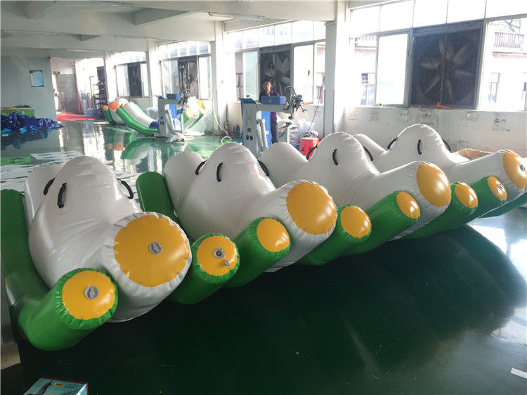 3*2*1.5m Green Inflatable Seesaw / Blow Up Toys For Pool In Hot Summer