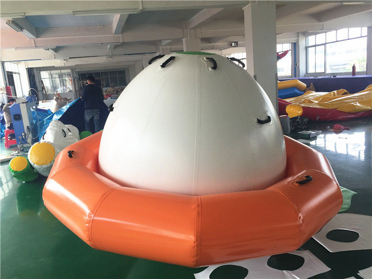 China Double-Tripple Stitch Inflatable Water Toys For Summer , Blow Up Satumn UFO factory
