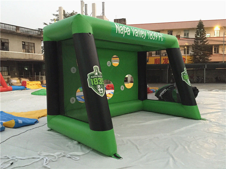 China 0.6mm PVC Tarpaulin Inflatable Sports Games , Blow Up Soccer Goal For Fun factory