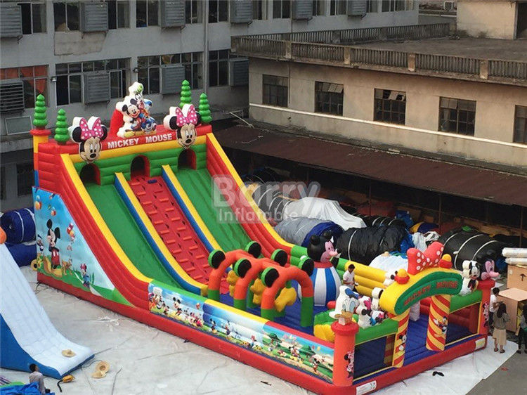 China Kids Inflatable Playground / Mickey Cartoon Inflatable Amusement Park factory
