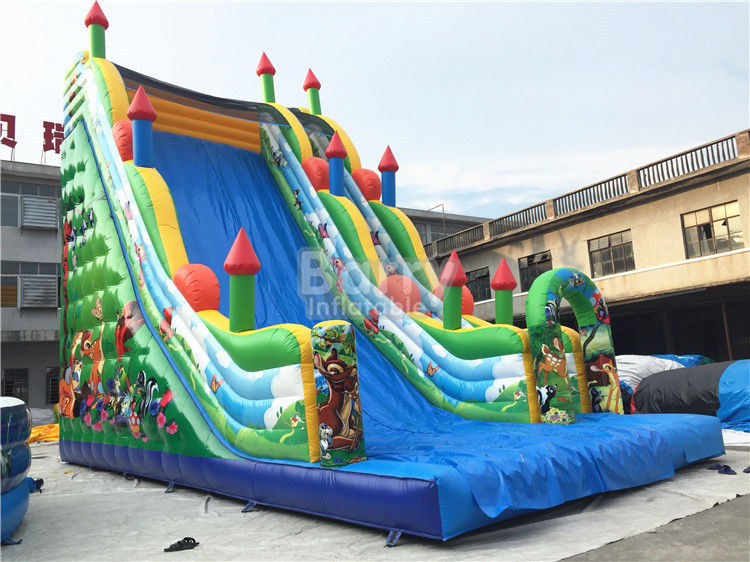 11X6X9m Commercial Inflatable Slide , PVC Tarpaulin Blow Up Jumping Castle