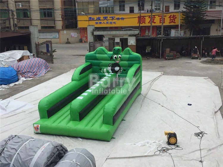 China 0.55MM PVC Tarpaulin Double Lanes Jumping Bungee Run Game EN14960 factory