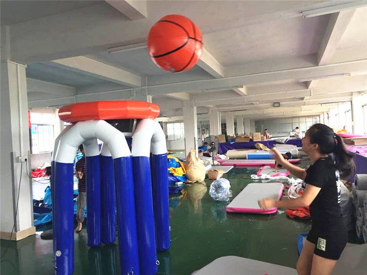 China Fun Inflatable Interactive Games / 1.9m Height Giant Inflatable Basketball Hoop factory