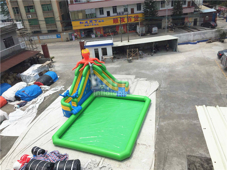 China Outdoor Inflatable Water Park For Kids / Extreme Fun Water Theme Park factory