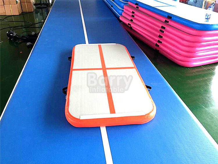 PVC Hand Made Small Orange Air Track Gymnastics Mat For Kids Gym Or Training supplier