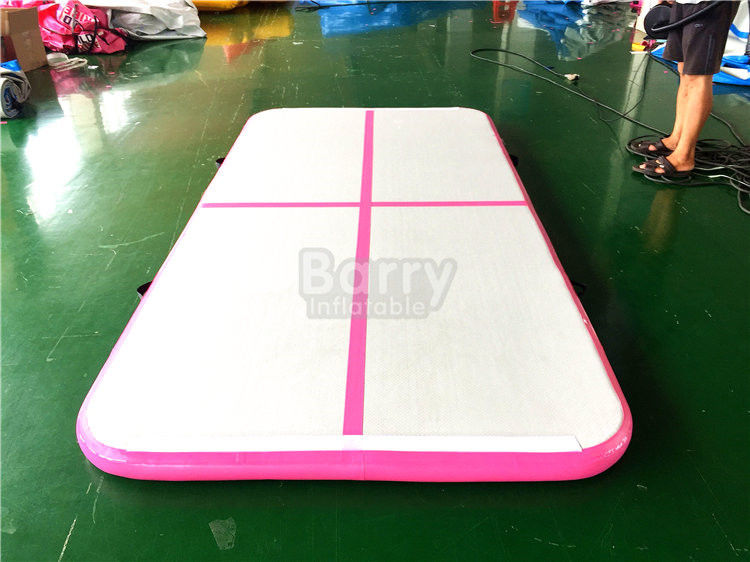 China DWF PVC Indoor Sport Equipment Air Track Gymnastics Mat , Pink Tumbling Air Track factory