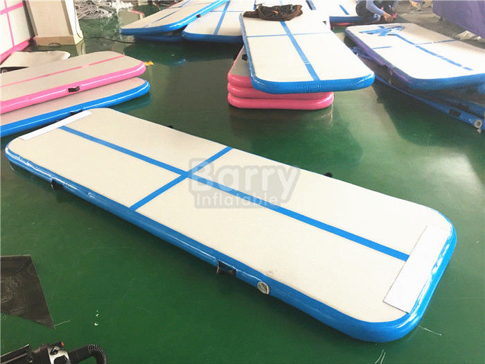 China Blue Air Tumble Track And Gymnastic Equipment , Air Track For Gymnastics factory