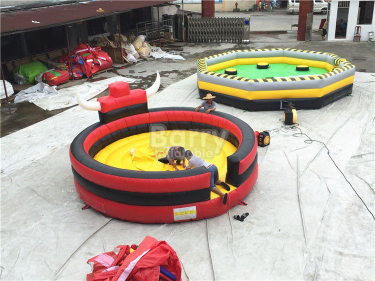 China Professional Inflatable Sports Games Rodeo Bull / Inflatable Bull Riding Ring factory