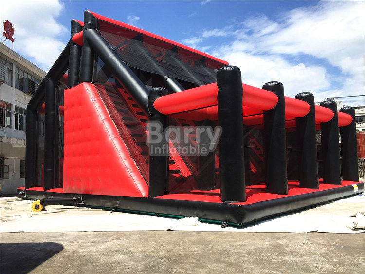 China Attractive Rides Jump Kids Red Drop Tower Inflatable Interactive Games / Funny Drop Tower factory